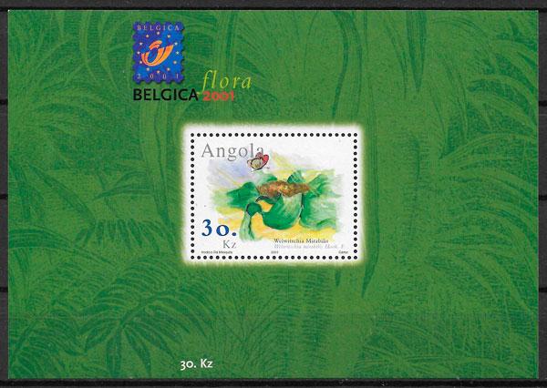 colección sellos flora Angola 2001