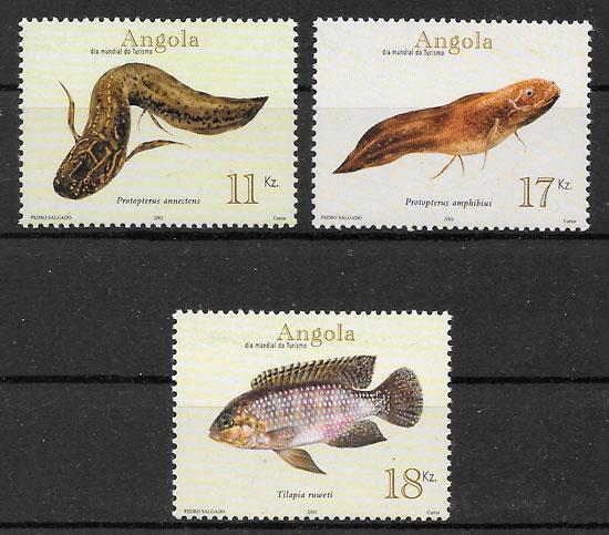 colección sellos fauna Angola 2001