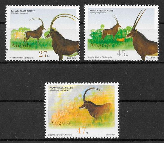 filatelia colección fauna Angola 2003