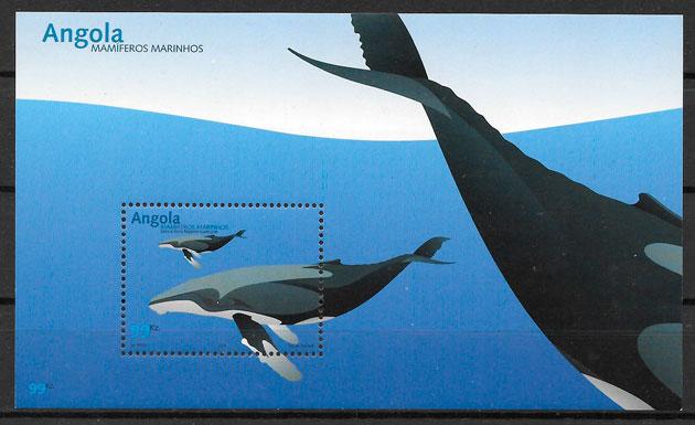 colección selos fauna Angola 2003