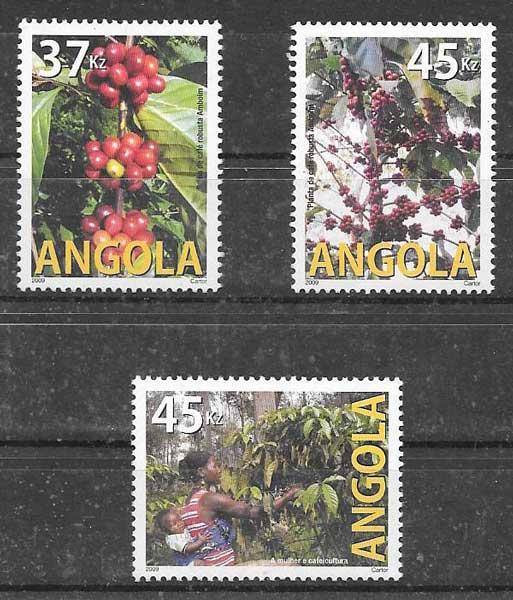 colección sellos flora Angola 2009