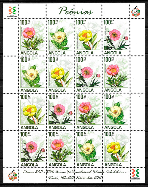 sellos flora Angola 2011