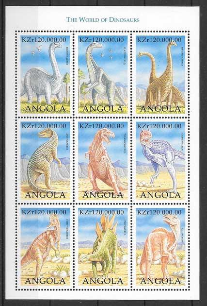 Filatelia Angola-dinosaurios-1998-03