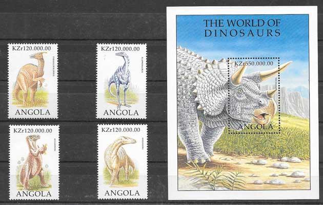 Filatelia Angola-dinosaurios-1998-04