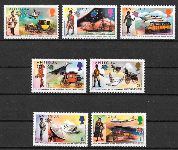 sellos transporte Antigua 1974
