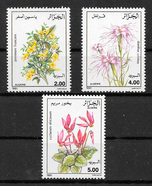 filatelia flora Argelia 1991