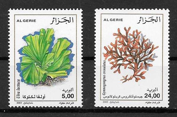 sellos flora Argelia 2003