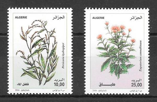 filatelia colección flora Argelia 2016
