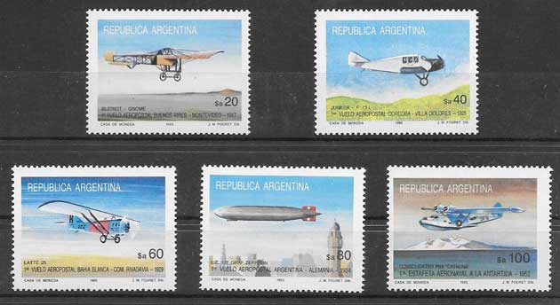 Sellos Argentina 1985 aviones