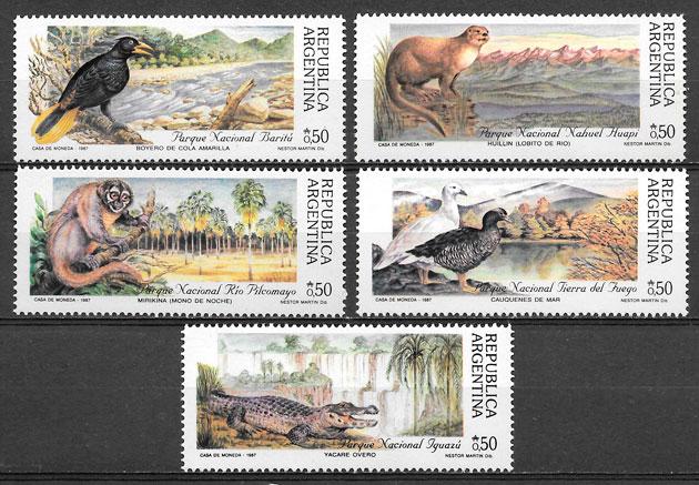filatelia colección Parques Naturales 1987