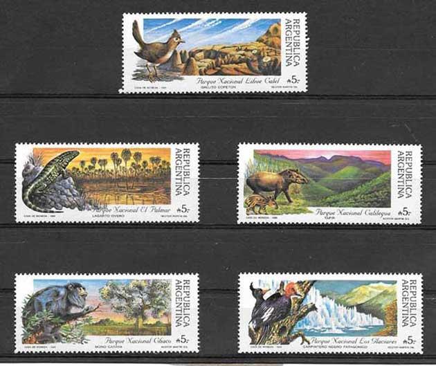 Sellos parques naturales Argentina 1989