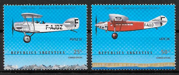 colección sellos transporte Argentina 2000