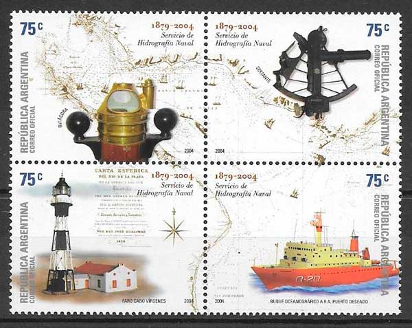 sellos faros Argentina 2004