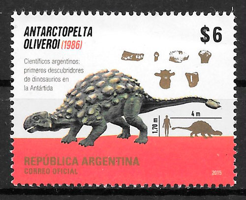 sellos animañles prehistóricos Argentina 2015