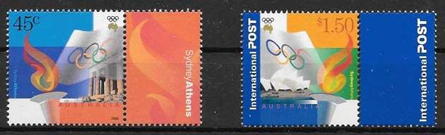 sellos deporte Australia 2000