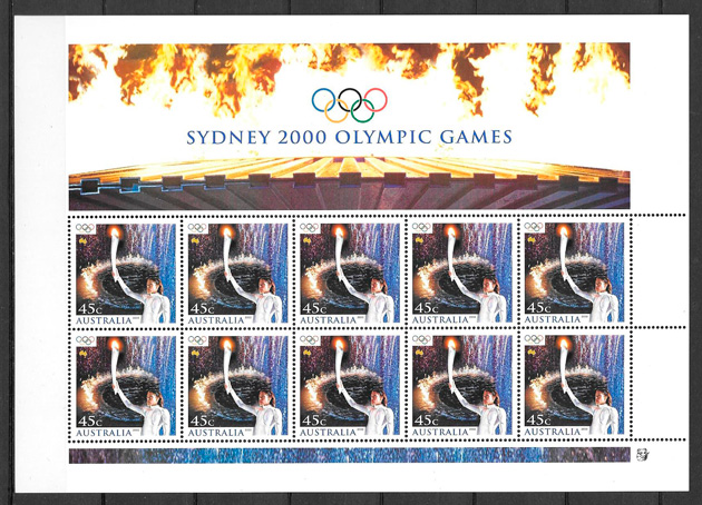 filatelia deporte Australia 2000