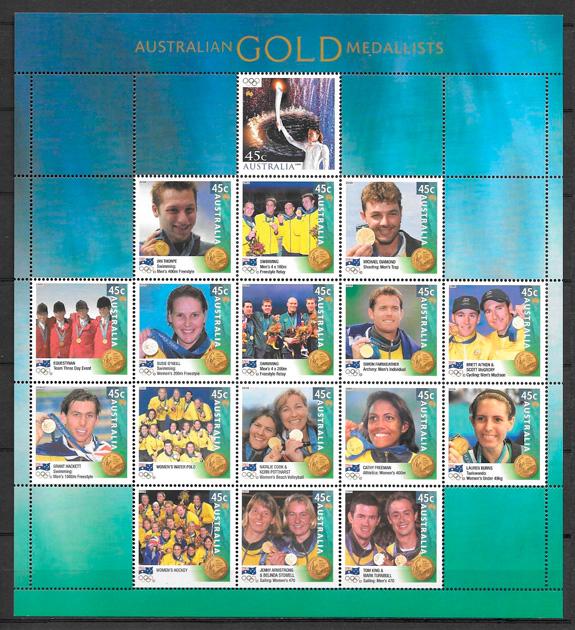 filatelia deporte Austrtalia 2000
