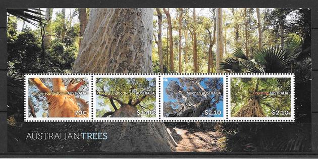 filatelia colección flora Australia 2015