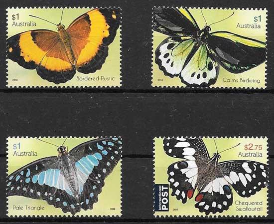 Filatelia mariposas Australia 2016
