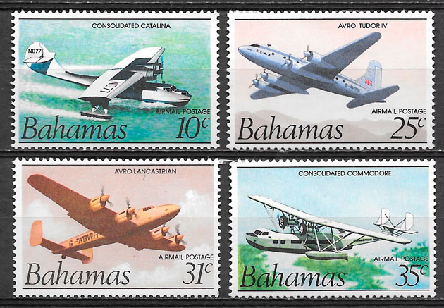 filatelia transporte Bahamas 1983