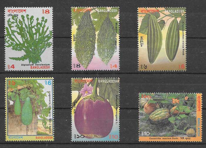 sellos flora Bangladesh 1994