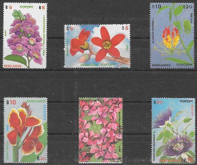 sellos flora Bangladesh 1995