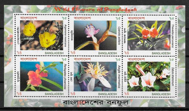 sellos flora Bangladesh 2004