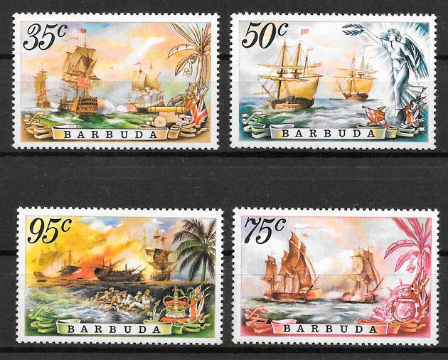 filatelia transporte Barbuda 1975