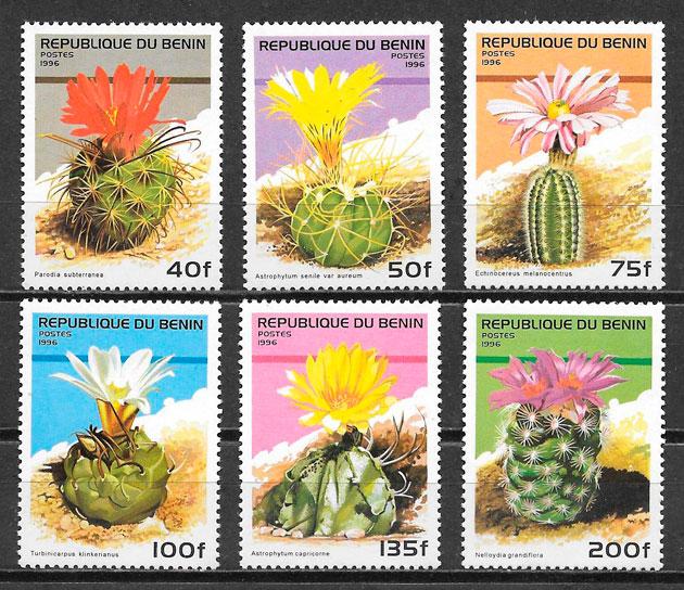 colección sellos flora Benin 1996