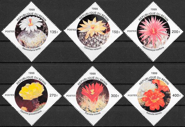 filatelia flora Benín 1999