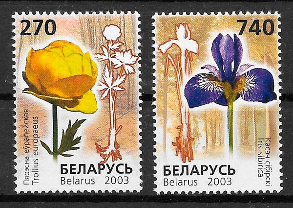 filatelia flora Bielorrusia 2003
