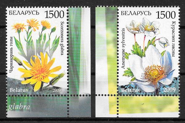 colección sellos flora BIELORRUSIA 2009