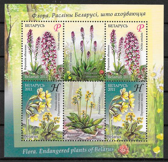 sellos flora Bielorrusia 2010