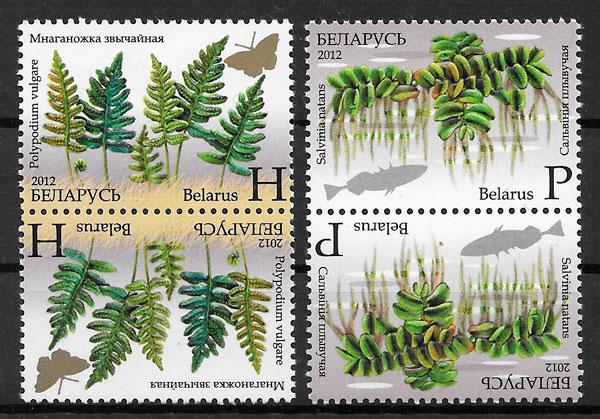 sellos flora Bielorrusia 2012
