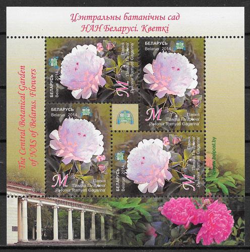 sellos flora Bielorrusia 2014
