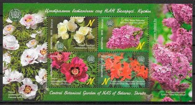 filatelia colección flora Bielorrusia 2015