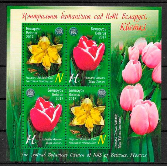 filatelia colección flora Bielorrusia 2017