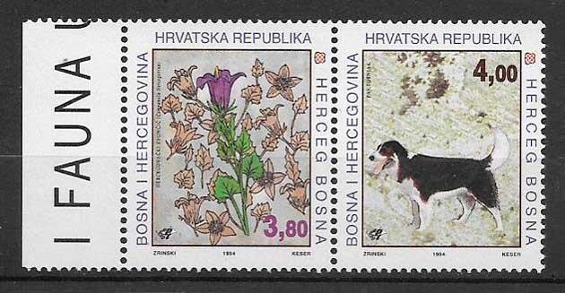 sellos fauna y flora Bosnia Herzegovina Herceg Bosna 1994