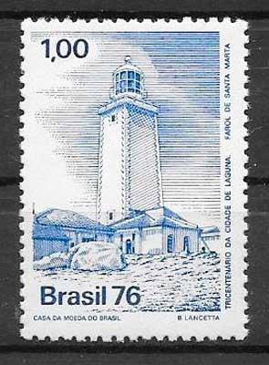 sellos faros Brasil 1976