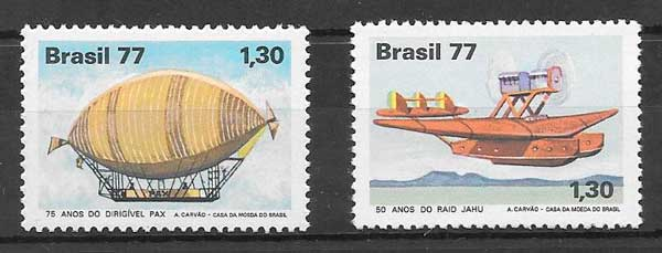filatelia transporte Brasil 1977