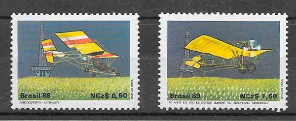 filatelia transporte Brasil 1989