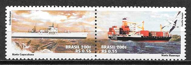 filatelia transporte Brasil 2001