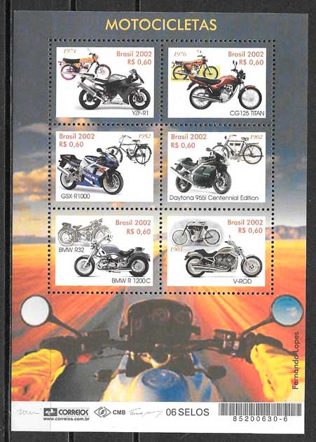 filatelia transporte Brasil 2002