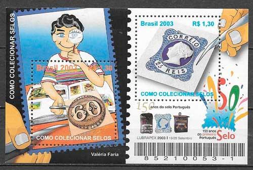 filatelia temas varios Brasil 2003