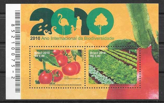 Sellos Brasil 2010 frutas