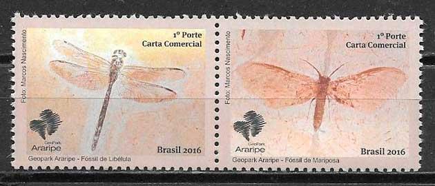 colección sellos fauna Brasil 2016
