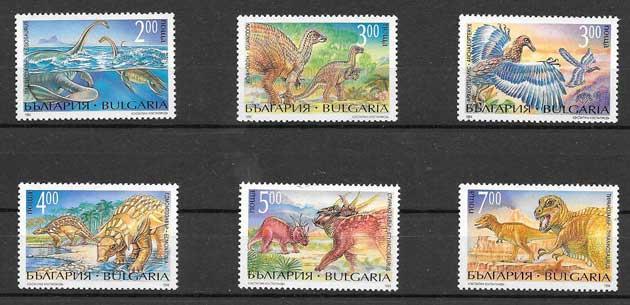Sellos fauna prehistórica Bulgaria 1994