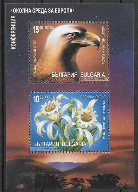 Filatelia fauna y flora Bulgaria