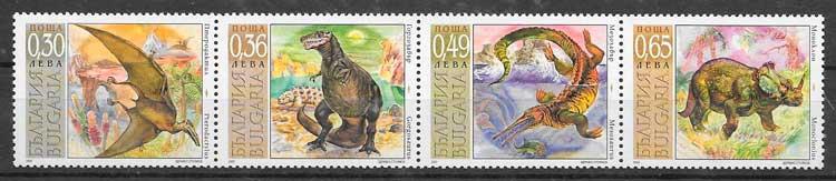 colección sellos dinosaurios 2003