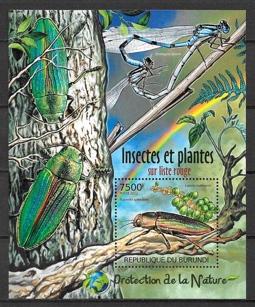 colección sellos fauna y flora Burundi 2012